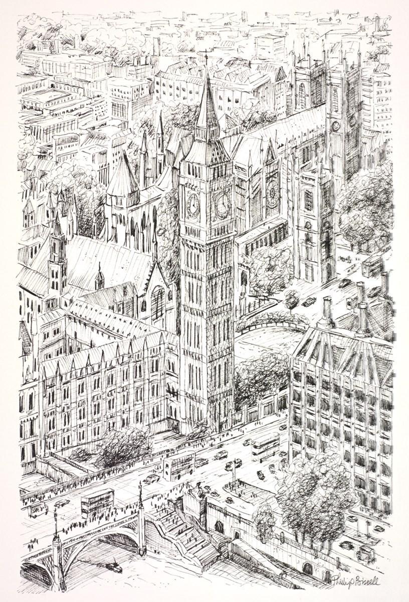 Westminster and Big Ben (Sketch)